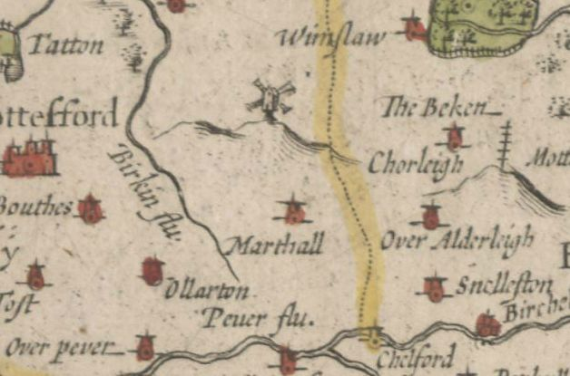 John Speed's Map of Cheshire, 1610