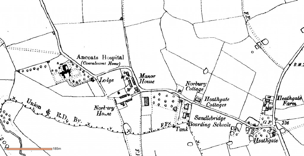 Norbury Houses in 1875