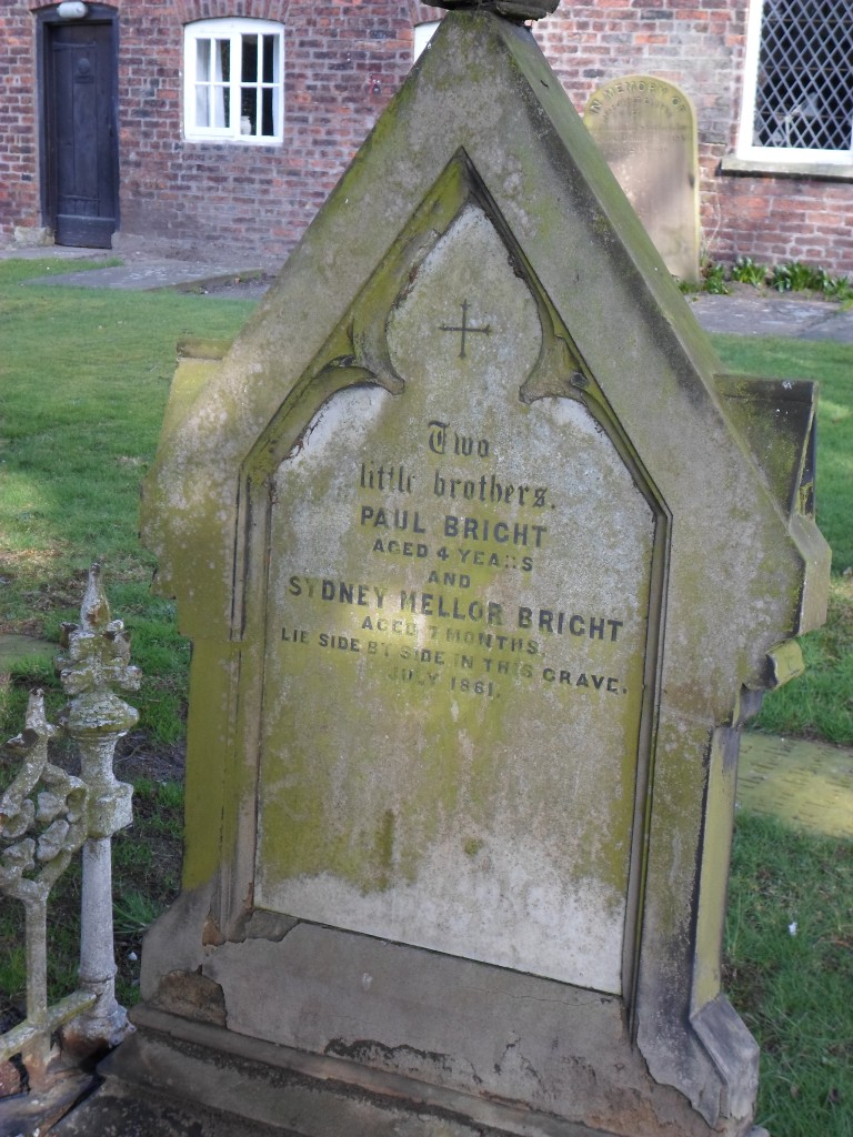 The grave of Paul and Sydney Mellor Bright, 1861