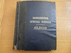 The first admission book of the Sandlebridge Special Schools, latterly known as Mary Dendy Hospital.